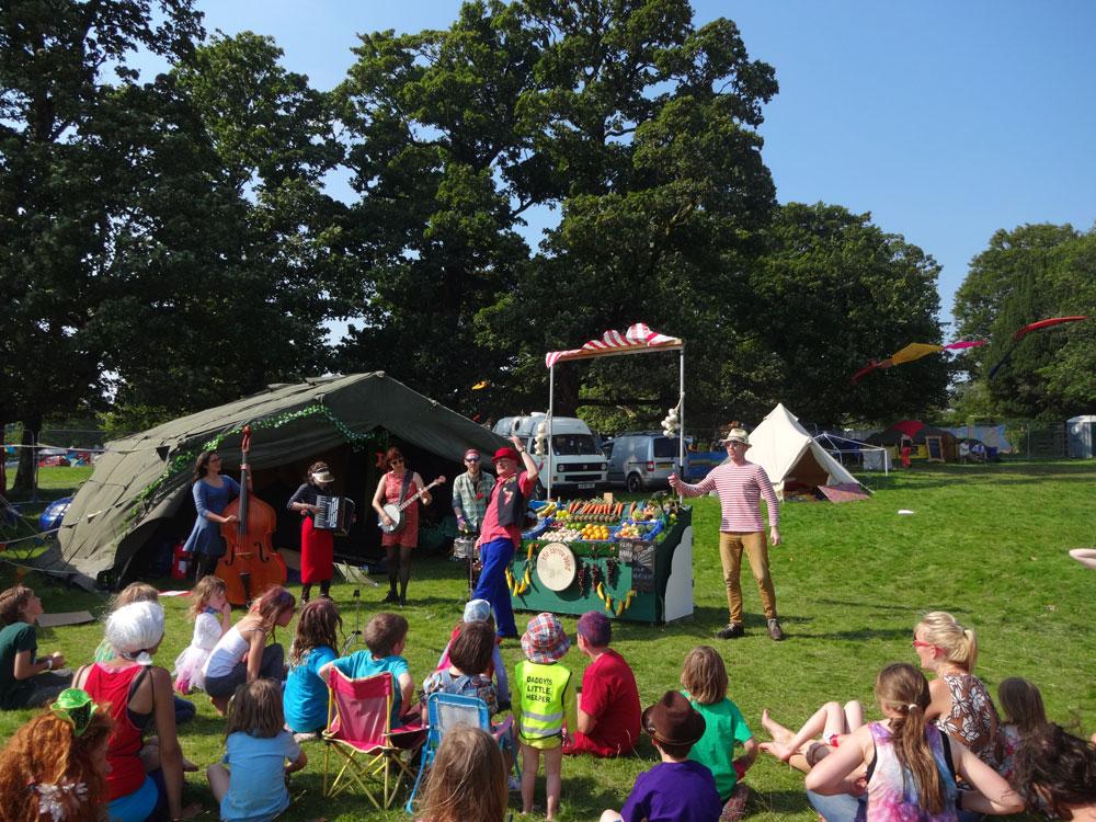 The Barrowband at Doune the Rabbit Hole Festival.